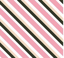 Pink Roses in Anzures 3 Stripes 4D by Christopher Johnson
