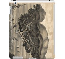 Vintage Pictorial Map of Bar Harbor (1886) iPad Case/Skin