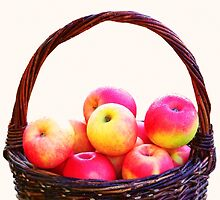 Basket with apples by GryThunes