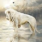 White Lion - Reflection Of Light by Carol  Cavalaris