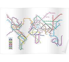 World Tube Metro Map Poster