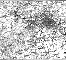 Berlin and Surrounding Areas Map (1911)  by BravuraMedia