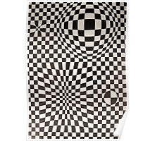 Vasarely: Black & White Poster