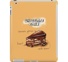 Chocolate Cake Slice Illustration iPad Case/Skin
