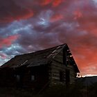 Cabin Sunset by Candy Gemmill
