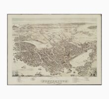 Vintage Pictorial Map of Portsmouth NH (1877) T-Shirt