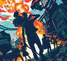 Sunset Overdrive Poster Mondo Print by lilfitz
