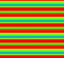 Bright Orange, Red, Green and Blue Stripes by melangetulsa