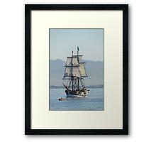 A Row with Lady Washington Framed Print