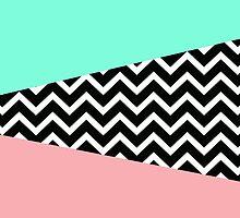 Pastel Chevron 80's New Wave Design by RexLambo