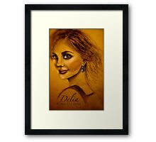 Delia, or The Blue Sweater... Framed Print