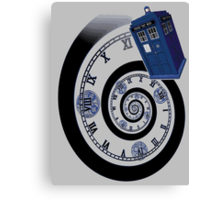 The Twelfth Doctor - time spiral (no white outline) Canvas Print
