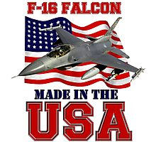 F-16 Falcon Made in the USA Photographic Print