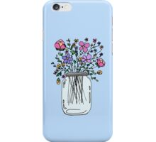 Mason Jar with Flowers iPhone Case/Skin