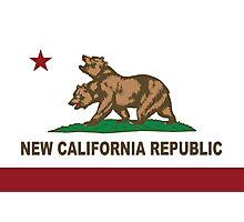 New California Republic Flag Original  Photographic Print