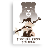 Nidalee, the Bestial Huntress Canvas Print