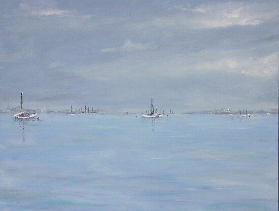 Grey day at Blakeney by Linda Ridpath