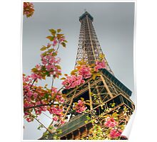 Springtime Eiffel in HDR Poster