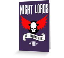 Night Lords VIII - Warhammer  Greeting Card