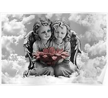 ✾◕‿◕✾ANGELS VIEW IN CLOUDS PILLOW AND OR TOTE BAG - PICTURE CARDS✾◕‿◕✾ Poster
