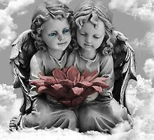 ✾◕‿◕✾ANGELS VIEW IN CLOUDS PILLOW AND OR TOTE BAG - PICTURE CARDS✾◕‿◕✾ by ✿✿ Bonita ✿✿ ђєℓℓσ