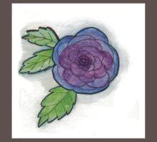 Watercolor Blue Rose Kids Clothes