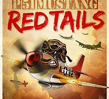 "WINGS Series ""P-51 RED TAILS"" by Pat McNeely"
