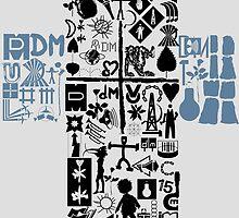 Depeche Mode : Personal Jesus - With DM logos 1 by Luc Lambert