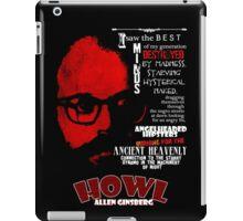 Allen Ginsberg Howl - Beat Poem Author T-shirt iPad Case/Skin