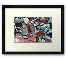 colored stones Framed Print