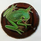 green frog by Leanne Inwood