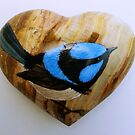 Blue Wren by Leanne Inwood