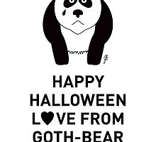 Panda Halloween Greeting Card by mjfouldes