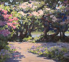 Rhodies in the Sun by Karen Ilari