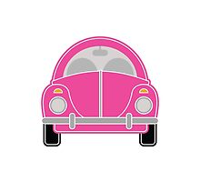 Pink Car Card by Louise Parton