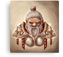 Dwarf with BG Canvas Print