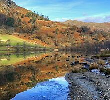 Rydal Water In November by Jamie  Green