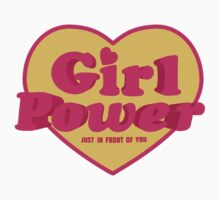 Girl Power Heart Shaped Typographic Design Quote by DFLC Prints
