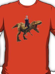 Capaldi on a Dinosaur T-Shirt