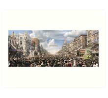 The Rex pageant, Mardi Gras Day, New Orleans, 1907 Colorized Art Print