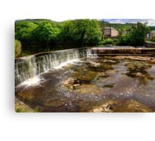 Settle Weir Canvas Print
