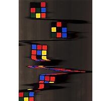 Rubix cube melting Photographic Print