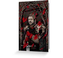 Eddard Stark Greeting Card