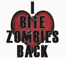 I Bite Zombies Back Kids Clothes