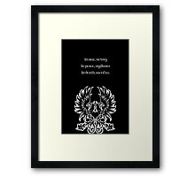 Grey Warden Motto Dragon Age Framed Print