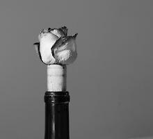 Wine and Roses bw by Elizabeth Sullivan