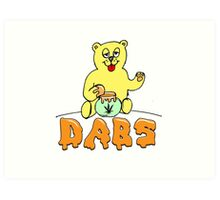 DABS - honey bear Art Print