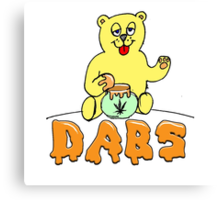 DABS - honey bear Canvas Print