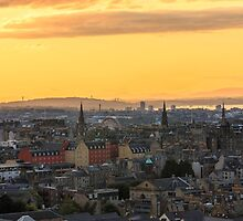 Edinburgh Skyline at Sunset by Miles Gray