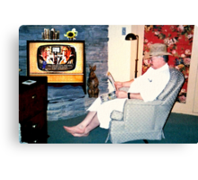 Relaxing with a Paper to a Cooter and Kooter Law Firm TV Advertisement  Canvas Print